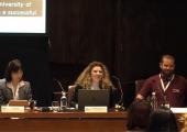 Componentes de la mesa: Yuko Ishizuka (Universidad de Osaka), Marienma I. Yagüe (Universidad de Málaga) y Tiago Valente (Access Azores)