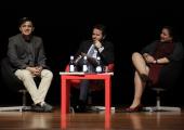 Componentes de la mesa: Javier Güemes Pedraza (ONCE),  David Castillo Fernández (Ministerio de Turismo de Costa Rica) y Liz Coronel Correa (Embajada del Paraguay.