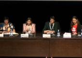 Componentes de la mesa: Yolanda de la Fuente (Universidad de Jaén), Ana Clara Rucci (Universidad Nacional de La Plata),  Gonzalo Martin Muñoz (CESyA) y Natalia Gladysz (Language Carrier)