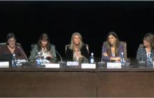 Pilar Soret (ILUNION), Silvia Martínez (Universidad de Granada), Cristina Álvarez ( Universidad de Granada), Marta García-Múñoz (GVAM) y  Marta Tabernero (Mecenas 2.0 Cultural Management)