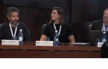 Algunos componentes de la mesa: Jorge Mozun Ponce (APAM), Ana Peñalver Blanco (Fundación Tecnologías Sociales) y José Tomás Romero (Fundación de la Universidad Autónoma de Madrid) (FUAM)