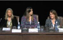 Cristina Álvarez ( Universidad de Granada), Marta García-Múñoz (GVAM) y  Marta Tabernero (Mecenas 2.0 Cultural Management)