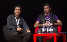 Foto de Juan Aguado Delgado (Universidad de Alcalá) y  Pablo Pérez Ortega (Electronic Arts)