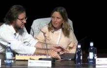 Gerardo A. Barbarov (Singular Devices) y Mª Angeles Martínez (ONCE)