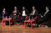 Componentes de la mesa: Lourdes González (Fundación ONCE), Andrés Balcazar (Comisión Derechos Humanos de México), Parul Sharma (Consultor), Juan Antonio Ruso (CILIFO) y Jesús Fernández Lozano (Universidad de Málaga)