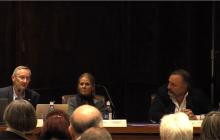 Ivor Ambrose (ENAT), Katrien Mampaey (VisitFlanders) y José L. (Fundación ONCE)