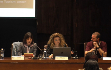 Yuko Ishizuka (Universidad de Osaka), Marienma I. Yagüe (Universidad de Málaga) y Tiago Valente (Access Azores)
