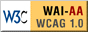 Accreditation logo for compliance with the AA level guidelines of w3c